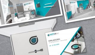 clever concept stellt ein Projekt vor: Projekt Corporate Design - ASTORtec - Messeauftritt