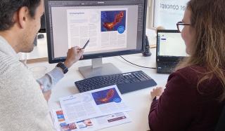 clever concept stellt ein Projekt vor: Projekt Magazin - Physio Care News - Austausch