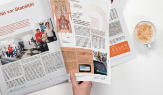 clever concept stellt ein Projekt vor: Projekt Magazin - Physio Care News - Seite blättern