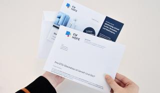 clever concept stellt ein Projekt vor: Projekt Mailing-Kampagne - EW Höfe - Brief