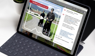 clever concept stellt ein Projekt vor: Projekt Social Media - en Starche Gäischt - Tablet